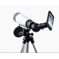 China Silver 45X Smartphone Viewing Tripod Spotting Scope Phone Mount on sale