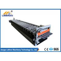 China Hydraulic Cut Glazed Tile Roll Forming Machine Full Automatic Servo Guiding Device on sale