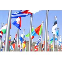Round Head Stainless Steel Flag Pole Great Wind Resistance Customized Thickness Manufactures