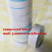 China 100% cotton white terry compressed towel  on sale