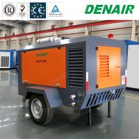China 350cfm Industrial Diessel Power Movable Mobile Type Rotary Screw Air Compressors on sale