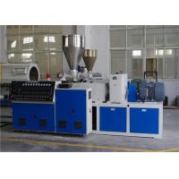Conical Twin Screw Extruder Plastic Extrusion Line For PVC Pipe Manufactures