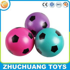China custom color print pvc glitter football soccer ball for children on sale