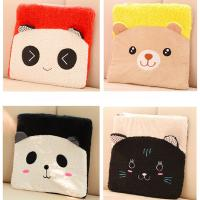 Coral Fleece Soft Plush Seat Cushions For Car / Office 35 * 35 * 3CM Manufactures