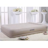 China Fancy Raised Inflatable Double Bed Flocking suv air mattress Surface High Speed Deflation on sale