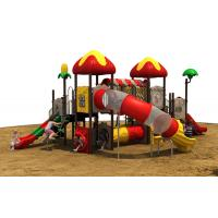 Steel Outdoor Playground Equipment Covered With Anti Skid Rubber Manufactures