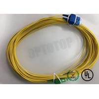 Duplex Yellow Fiber Optic Patch Cord Single Mode FC / UPC - FC / APC 20 Mm Manufactures