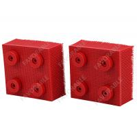 China Red Nylon Bristles Round Foot  Suitable For VT5000  VT7000 Auto Cutter on sale
