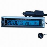 Radio controlled car clock with thermometer and calendar Manufactures