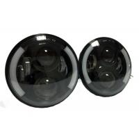 7 Inch 40W Black Jeep Wrangler LED Headlights Round J10 High Intensity Manufactures