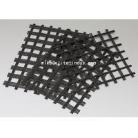 Warp Knitted Self Adhesive Fiberglass Geogrid With Asphalt For Road Construction Manufactures