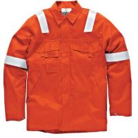 Big And Tall Welding Flame Resistant Clothing Orange Color High Vis Manufactures