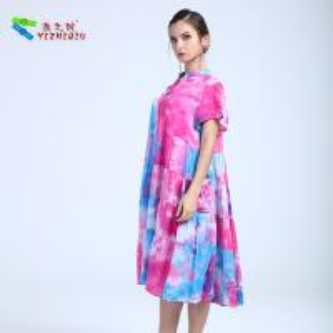China YIZHIQIU Customized Mixed Color 100% Cotton Dress on sale