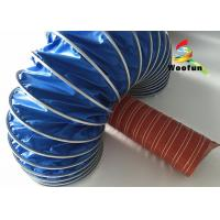 Round 12 Inch High Temperature Flexible Duct PVC Durable With Iron Buckle Manufactures