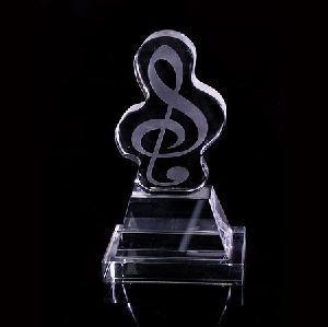 Crystal Trophy, Award. Music Trophy (JD-JB-003) Manufactures