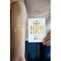 China Gold and silver metallic temporary tattoo on sale