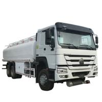 20000 Liters 6000 Gallon Diesel Oil Transporter Fuel Tank Truck Sinotruk Howo White Color Manufactures