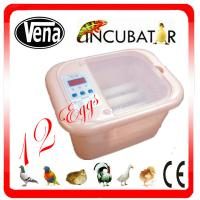 2014 top selling 12 eggs mini egg incubator for quail/full automatic mini chicken egg incubator with CE approved Manufactures