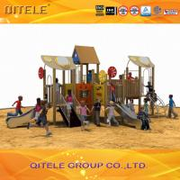 Backyard Kids Playground , Kids Outside Play Equipment With Stainless Steel Slide Manufactures