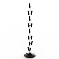 Balloon Metal Display Racks And Stands Heavy Duty Base / 8 Layers Tubular Holder Manufactures