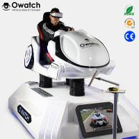 China Coin operated 9D VR Racing Simulator, 9d vr Car Driving 3 DOF dynamic platform interactive games on sale