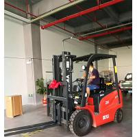 Four Wheel Electric Forklift Truck 3 Stage Free Lifting Mast 2.5 Ton Capacity Manufactures