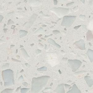 Bright Black Terrazzo Tile , Terrazzo Vinyl Floor Tiles Vibrant Marvelous Texture Manufactures