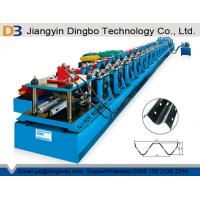 Crash Barrier Roll Forming Machine Highway Guardrail With Hydraulic Post Cutting System Manufactures