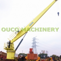 Buy cheap Stable Steel Structure Straight Boom Marine Deck Cranes 5T 15M from wholesalers