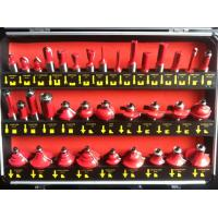 China TC-035B 12mm Shank 35PCS Red Colour TCT Router Bit Set In Aluminum Carrying Case on sale