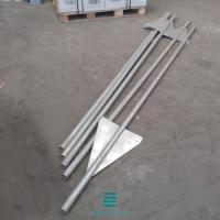 Galvanizing Wing Fence Panel Posts Iron Tube Material 40x2.0mmx2900mm Manufactures