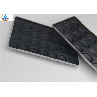 15 Cavity Aluminum Alloy Non-Stick Coating Bun Baking Tray Manufactures