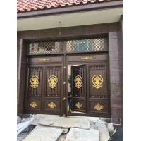 Home Garden Cast Iron Gates Double Entry Type For Courtyard / Driveway Manufactures