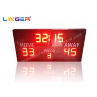 Ultra Thin LED Electronic Basketball Scoreboard With Remote Controller Manufactures