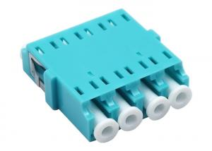 China Water Blue OM3 LC PC 4 Port Fiber Optical Adapters For FTTH Box No ear on sale