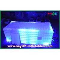 China LED Light Inflatable Cube Tent / Full-Digital Printing Outdoor Party Tent on sale