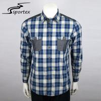 Grid Checked Mens Slim Fit Plaid Shirts Cotton Fabric Type Eco Friendly Manufactures
