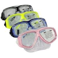 Anti Fog Diving Adult Snorkel Mask PC Frame Colorful Tempered Glass Lens Manufactures