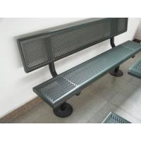 Quality Galvanized Steel Decorative Benches Outdoor 180 * 60 * 90 CM Security for sale