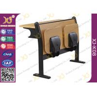 Melamine Desktop Foldable Lecture Theatre Chairs Iron Hinge Type , ISO9001 Manufactures
