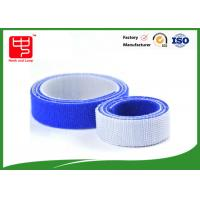 100% nylon blue hook and loop tape double sided hook and loop roll 25mm wide 25m / roll Manufactures