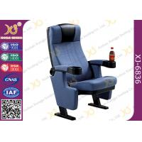 Heavy Iron Frame Cinema Hall Theatre Seating Chairs With Cup Holder