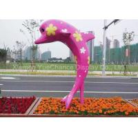 OEM / ODM Decorative Dolphin Sculpture , Life Size Outdoor Statues Weatherproof Manufactures