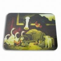 Breakfast Cutting Board/Plate, Made of toughened glass, Customized Designs and Logos are Welcome Manufactures