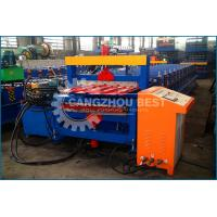 China High Speed Corrugated Roof Roll Forming Machine / Roof Tile Making Machine on sale