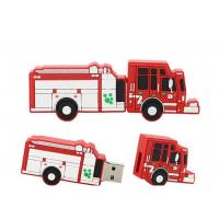 PVC Custom Red Fire Truck Shaped USB Promotional Computer Memory Sticks Manufactures
