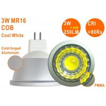 Buy cheap 25W Halogen Replacment Epistar COB CE RoHS MR16 GU10 3W 6000K Dimmable Spot Light from wholesalers