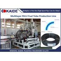 PA Automotive Fuel Tube Making Machine , Multilayer Nylon Oil Pipe Extruder Machine Manufactures