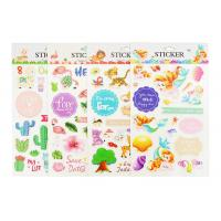 Plant Custom Kids Sticker Printing , Puffy Animal Stickers Printed Blister Packaging Manufactures