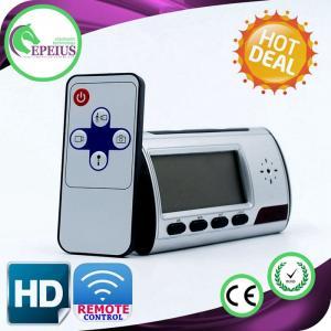 China Wireless Hidden Spy Camera With Audio , Hidden Camera Alarm Clock Night Vision on sale